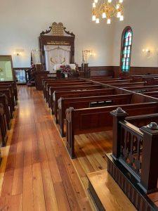 Temple Emanuel restored floors